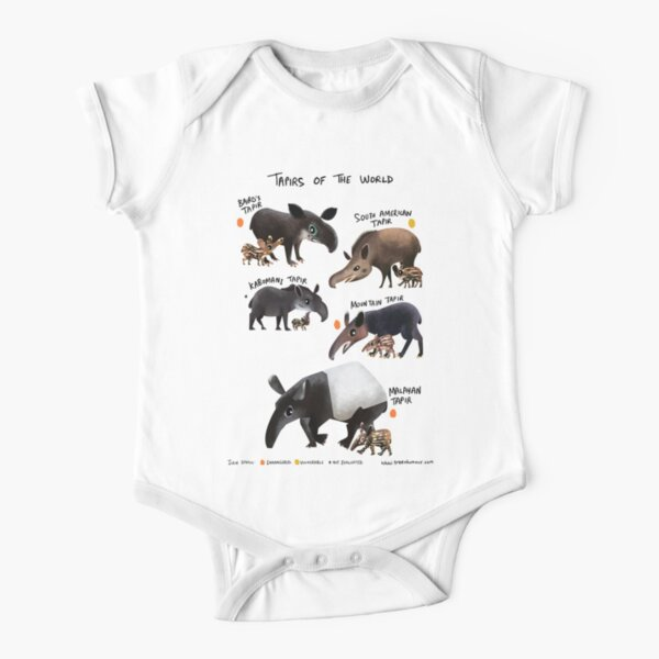 Tapirs of the World Short Sleeve Baby One-Piece