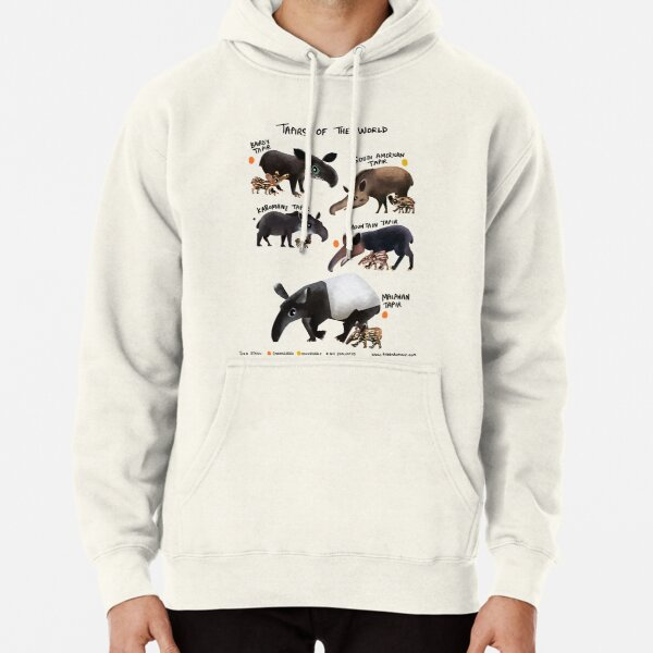 Tapirs of the World Pullover Hoodie