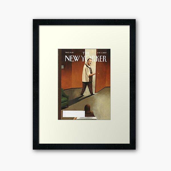 TONY SOPRANO NEW YORKER COVER Framed Art Print