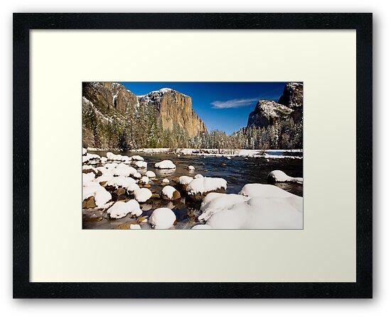 Yosemite Valley Snow Covered by photosbyflood