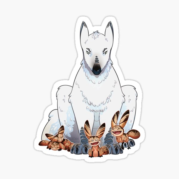 Loth Wolf and Cats Sticker