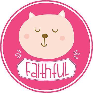 Virtue Sticker - Faithful by greenoriginals