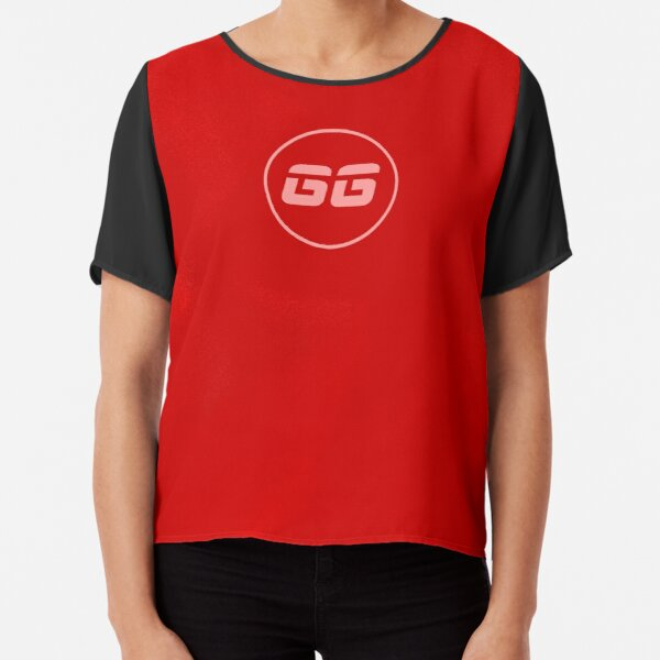 SiegeGG - Red Washed Chiffon Top