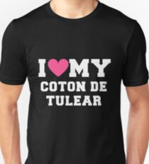 I Love My Coton de Tulear Dog Breeds Gift Unisex T-Shirt