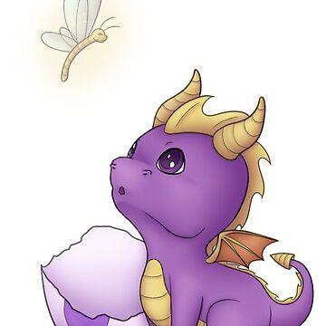 Baby Spyro and Sparx by oscardarla