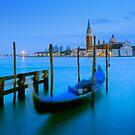 View of San Giorgio Maggiore and Venetian Lagoon in Venice, Italy by Yen Baet