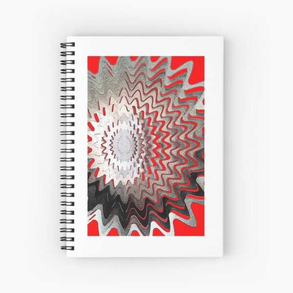 Abstract - red Spiral Notebook
