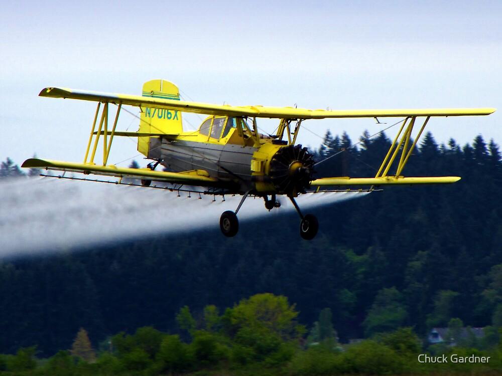 Grumman Ag Cat Crop Dusting Biplane  # N7016X  by Chuck Gardner
