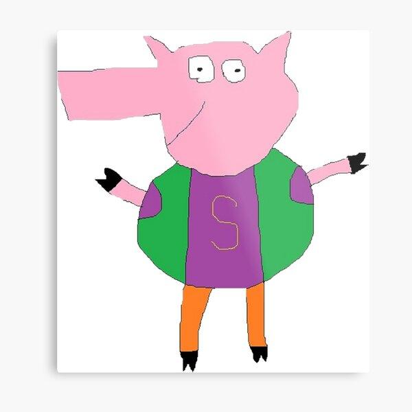 Slim Pig Metal Print