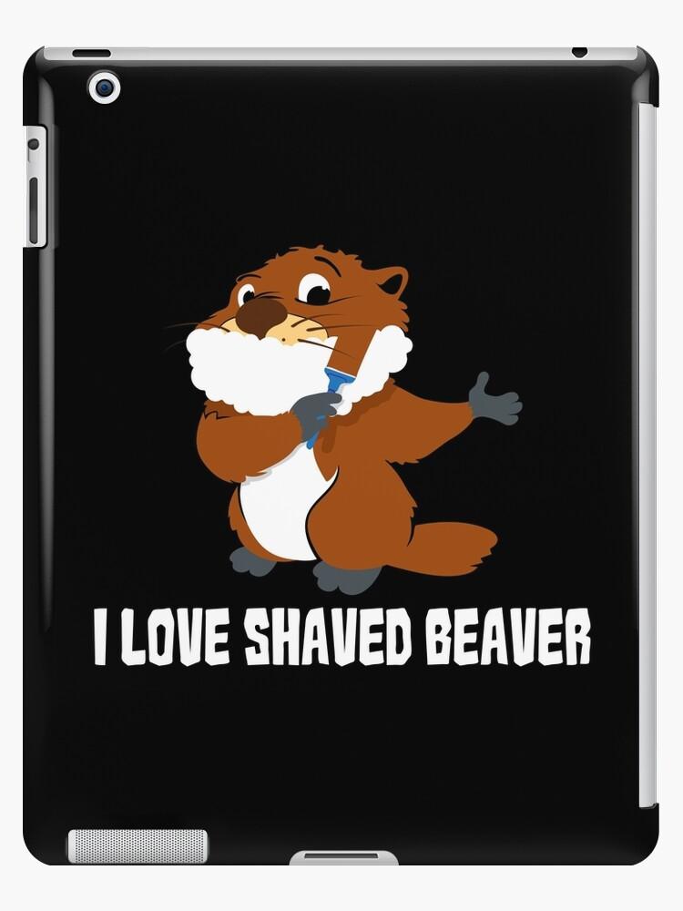 Shaved beaver eating not
