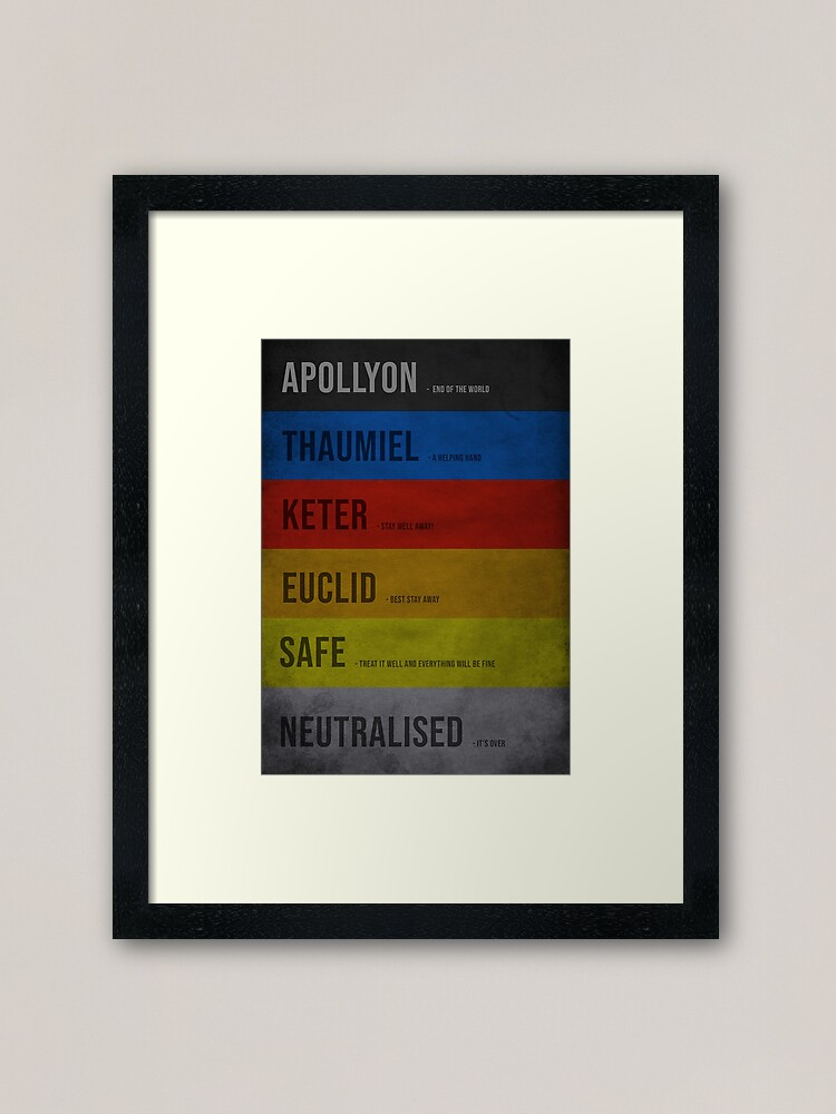 Scp Classes Framed Art Print By Scpillustrated Redbubble This video describes all of the more common scp object classes (safe, euclid, keter, thaumiel, neutralized) and what. redbubble