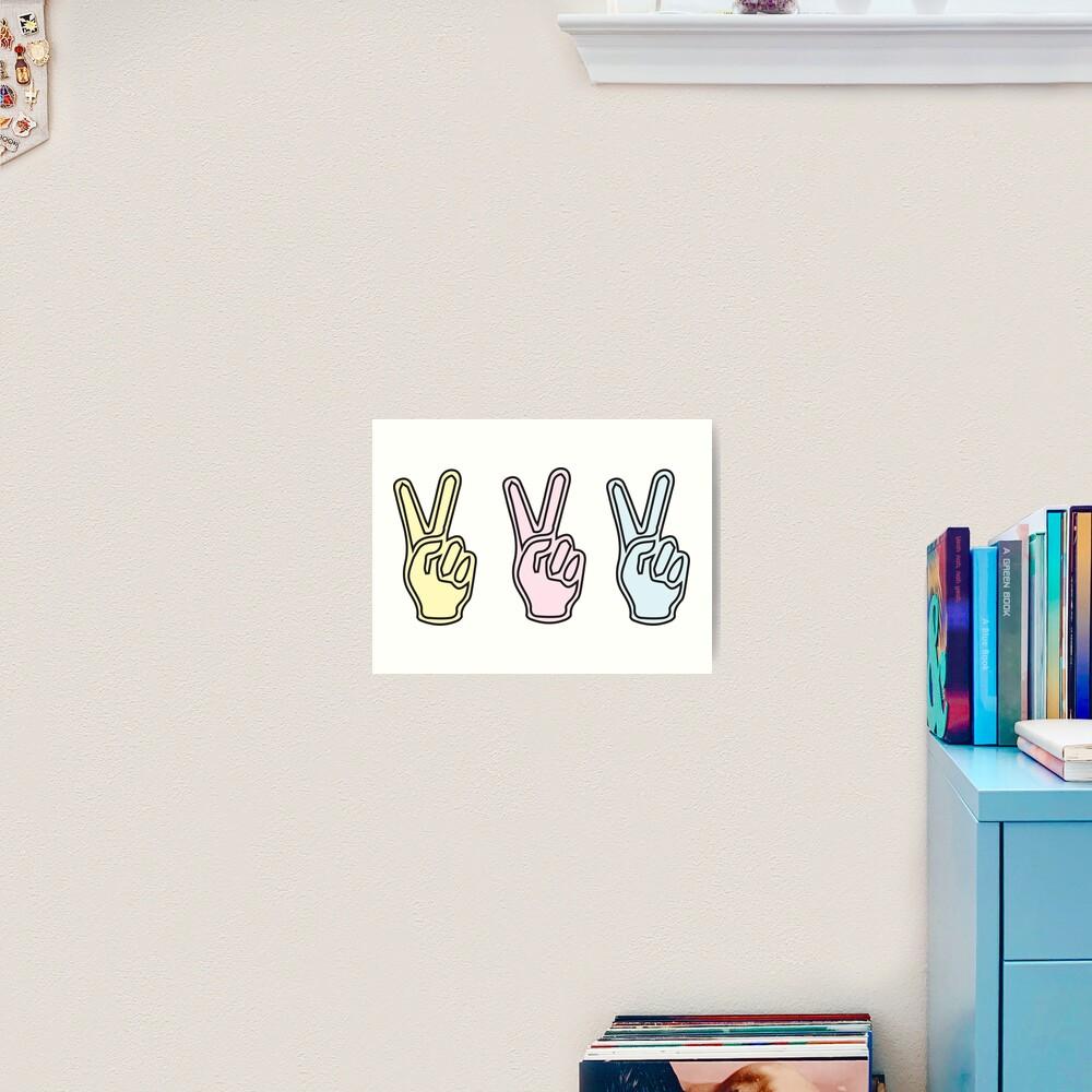 Peace sign Art Print