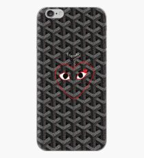 black goyard cdg iPhone Case