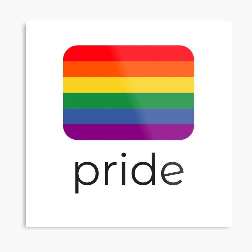 pride flag Metal Print