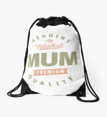 Genuine Mum Drawstring Bag