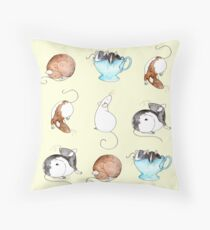 Ratty People Throw Pillow