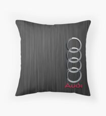 Audi logo on a field of steel vintage Throw Pillow