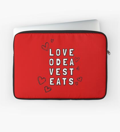 Love Odea Vest Eats Laptop Sleeve