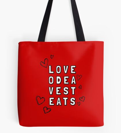 Love Odea Vest Eats Tote Bag