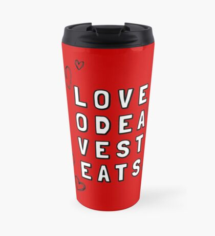 Love Odea Vest Eats Travel Mug