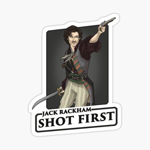 Jack shot first! Sticker