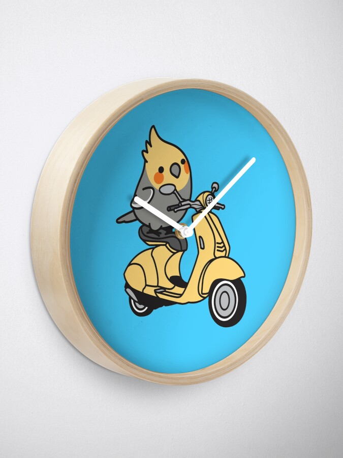 Alternate view of Scooter Chubby Cockatiel Clock