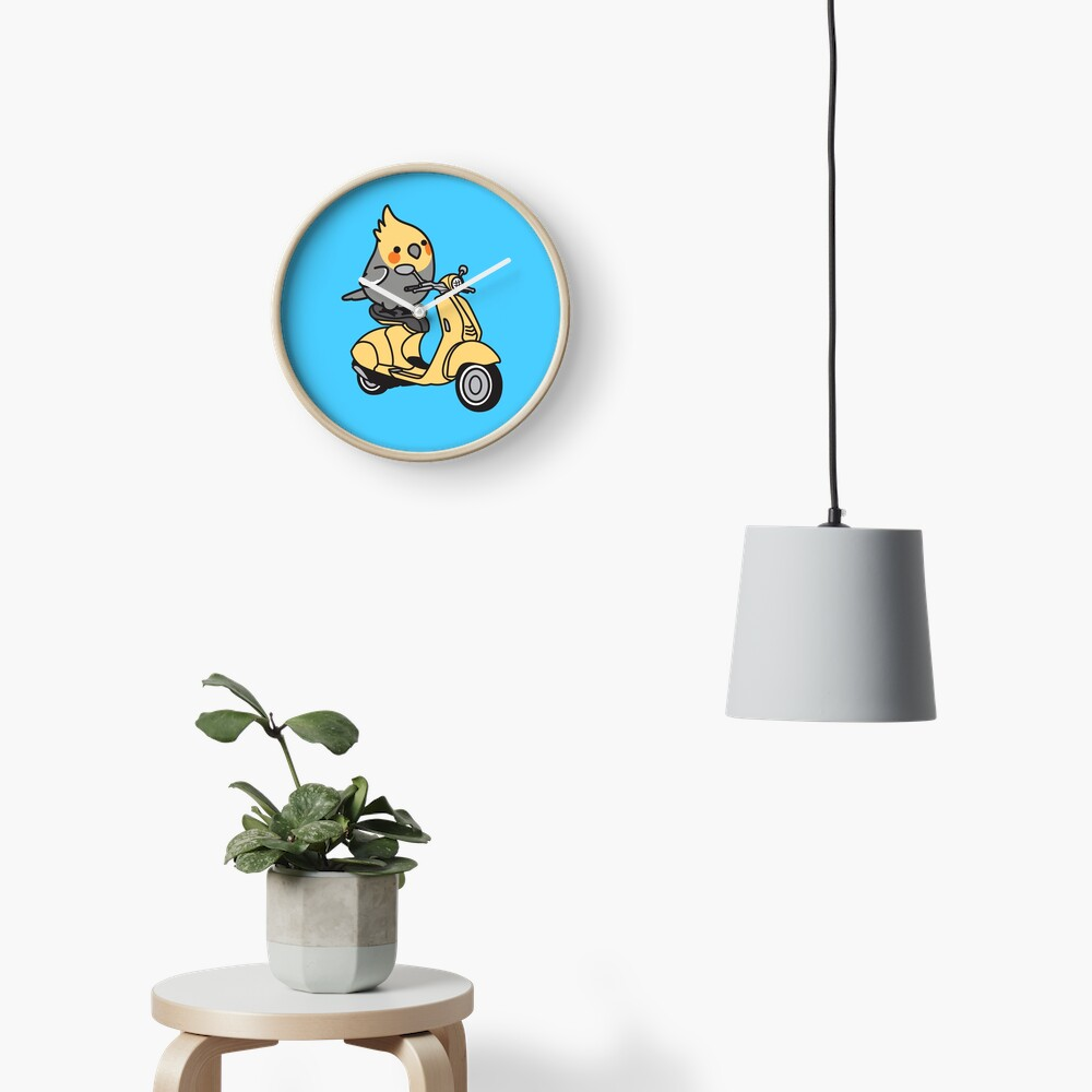 Scooter Chubby Cockatiel Clock