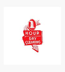 dry cleaning Photographic Print