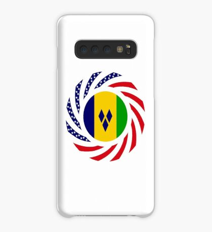 Saint Vincentian American Multinational Patriot Flag Series Case/Skin for Samsung Galaxy