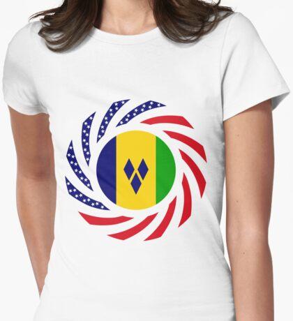 Saint Vincentian American Multinational Patriot Flag Series T-Shirt