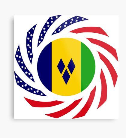 Saint Vincentian American Multinational Patriot Flag Series Metal Print