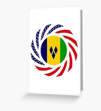 Saint Vincentian American Multinational Patriot Flag Series Greeting Card