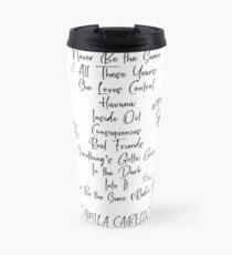 Taza de viaje Camila Cabello - CAMILA lista de seguimiento
