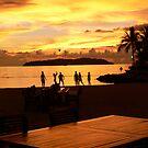 Sunset Games in Kota Kina Balu by Trish Woodford