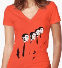 Man Machine Women's Fitted V-Neck T-Shirt