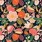 Bright Peach Floral by noondaydesign