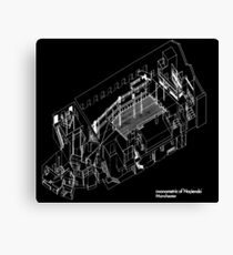 axonometric black 2 Canvas Print