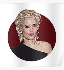 Gillian Anderson 2018 Golden Globes Poster