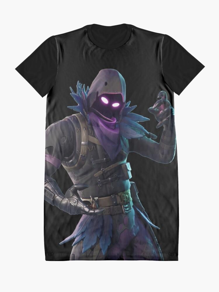 Vista alternativa de Vestido camiseta Cuervo