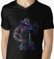 Camiseta de cuello en V Cuervo