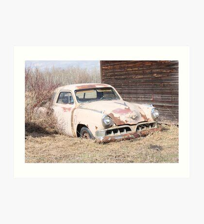 Hidden Treasure - 1953 Studebaker Coupe Art Print