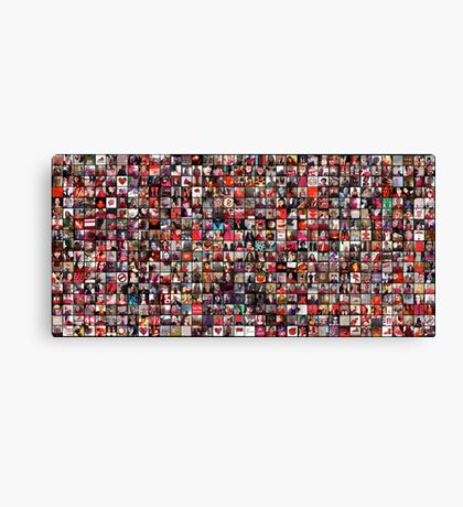 #WalkInRed2015 Large Collage Canvas Print