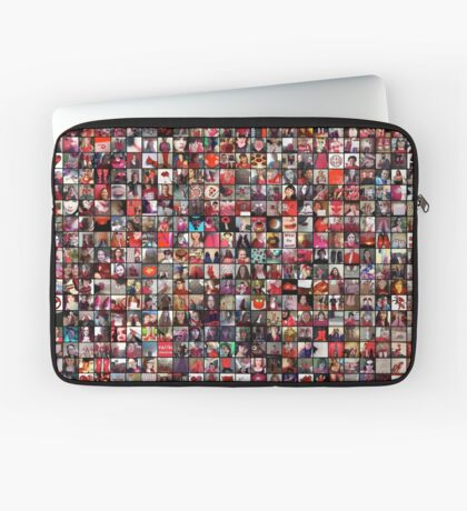 #WalkInRed2015 Large Collage Laptop Sleeve
