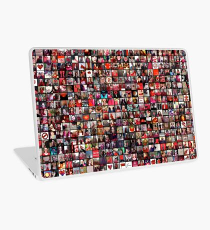 #WalkInRed2015 Large Collage Laptop Skin