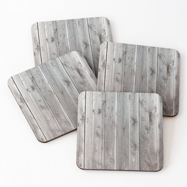 distressed country farmhouse primitive grey barn wood Coasters (Set of 4)