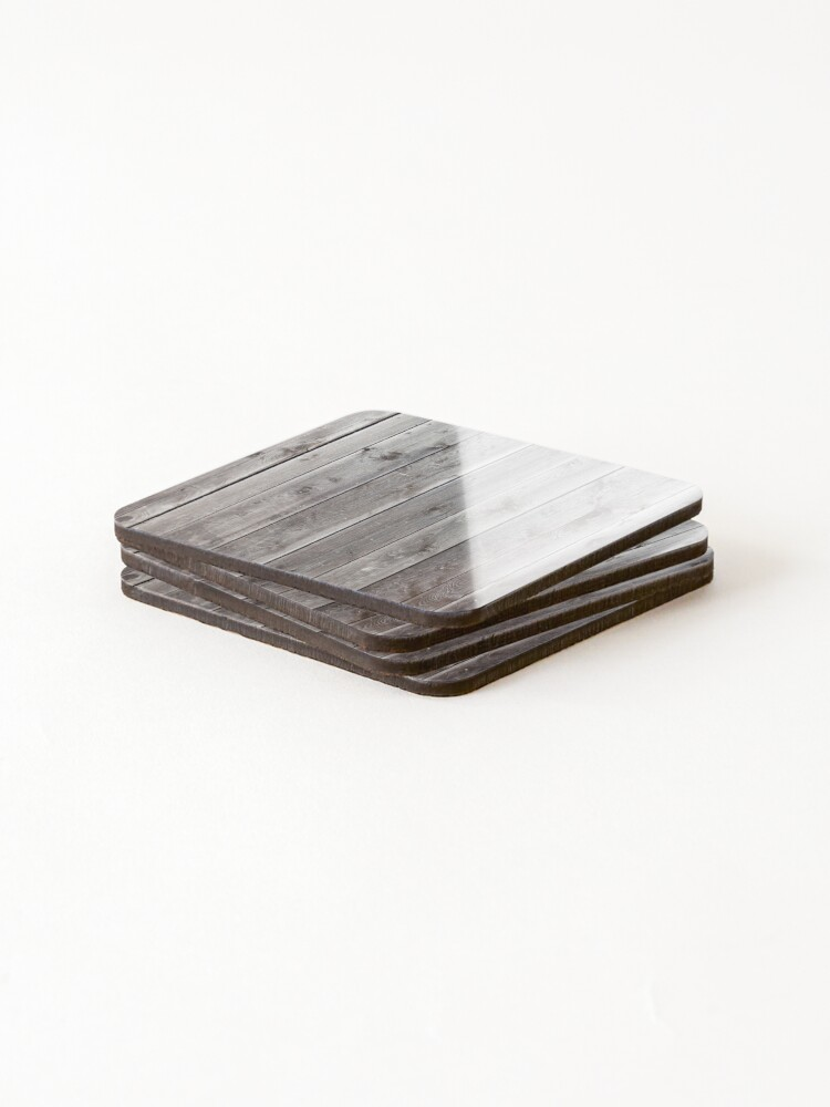Alternate view of distressed country farmhouse primitive grey barn wood Coasters (Set of 4)