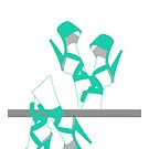 Turquoise Pleaser heels by itszoesmith