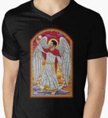 Morningstar - Glasmalerei T-Shirt mit V-Ausschnitt