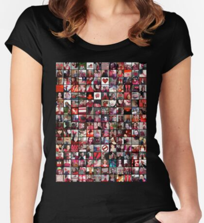 #WalkInRed2015 Collage A Women's Fitted Scoop T-Shirt