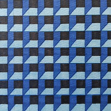 Blue Box Pattern by RiseAndConquer